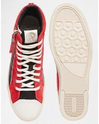 c13a2835 Zapatillas de ante rojas de Diesel, €180 | Asos | Lookastic España