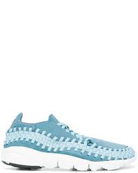 Zapatillas de ante tejidas en turquesa de Nike