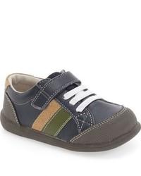 Zapatillas de Cuero Azul Marino