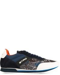 Zapatillas de cuero azul marino de Etro