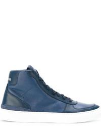 Zapatillas de cuero azules de Stone Island