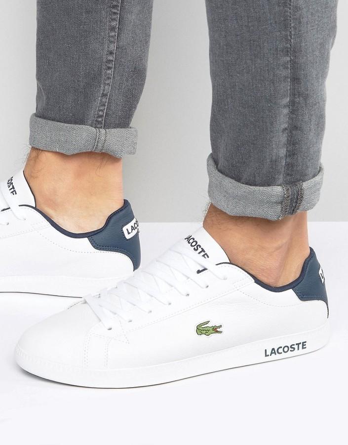 2faf44a3ea2bc ... Zapatillas de cuero blancas de Lacoste ...