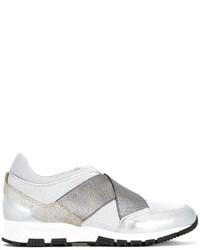 Zapatillas de cuero blancas de Lanvin