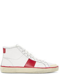Zapatillas de cuero blancas de Saint Laurent