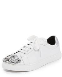 Zapatillas de cuero con adornos blancas de Rebecca Minkoff