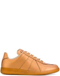 Zapatillas de cuero con estampado geométrico doradas de Maison Margiela