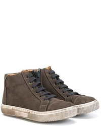 Zapatillas de cuero en gris oscuro de Pépé