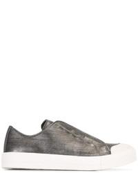 Zapatillas de Cuero Grises de Alexander McQueen