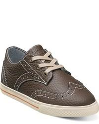 Zapatillas de cuero marrónes