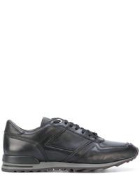 Zapatillas de cuero negras de Canali