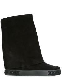 Zapatillas de cuero negras de Casadei