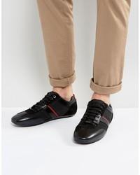 Zapatillas de cuero negras de Hugo Boss