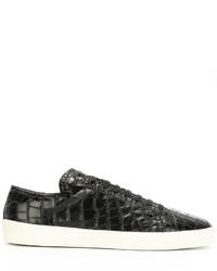 Zapatillas de cuero negras de Saint Laurent