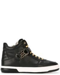 Zapatillas de Cuero Negras de Salvatore Ferragamo