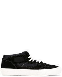 Hombres Unos De Moda Comprar Para Zapatos Vans Negros Cuero wgn7dq ... fbeb82ce924