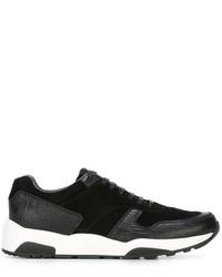 Zapatillas de cuero negras de Z Zegna