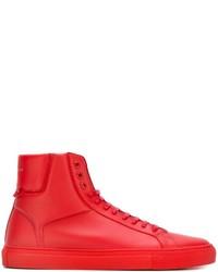 Zapatillas de cuero rojas de Givenchy