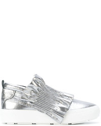 Zapatillas de Goma Plateadas de MSGM