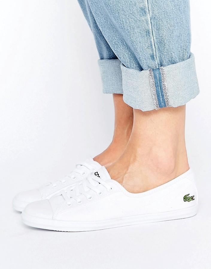 cb79aa79c Zapatillas de lona blancas de Lacoste, €70 | Asos | Lookastic España