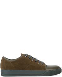 Zapatillas en marrón oscuro de Lanvin