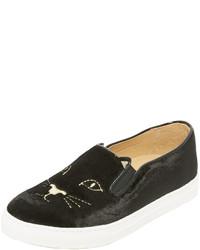 Zapatillas negras de Charlotte Olympia