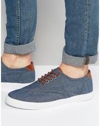Zapatillas plimsoll azul marino de Asos