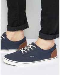 Zapatillas Plimsoll Azul Marino de Jack and Jones