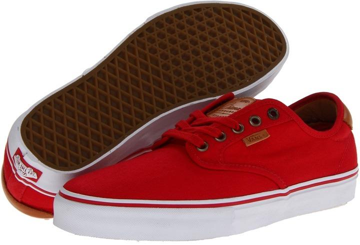 zapatillas vans rojas mujer