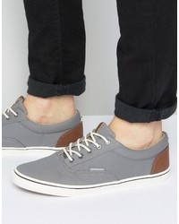Zapatillas Plimsoll Grises de Jack and Jones