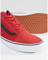 zapatos vans rojas