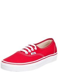 Zapatillas rojas de Vans