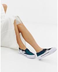 Zapatillas slip-on a cuadros en multicolor de ASOS DESIGN