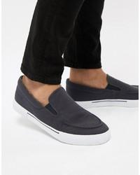 Zapatillas slip-on azul marino de ASOS DESIGN