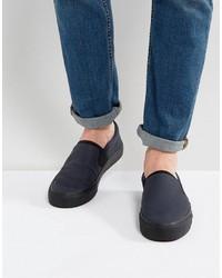 Zapatillas slip-on azul marino de Asos