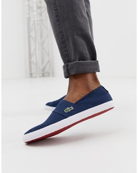 Zapatillas slip-on azul marino de Lacoste