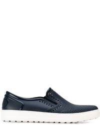 Zapatillas slip-on azul marino de Salvatore Ferragamo