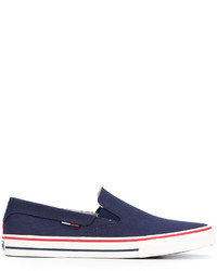 Zapatillas slip-on azul marino de Tommy Hilfiger
