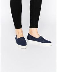 Zapatillas slip-on azul marino de Vero Moda