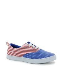 Zapatillas Slip-on Blancas y Rojas y Azul Marino de D-struct