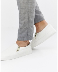 Zapatillas slip-on blancas de ASOS DESIGN
