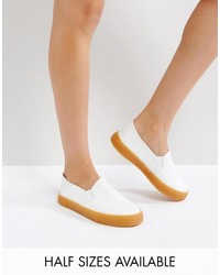 Zapatillas slip-on blancas de Asos
