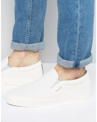 Zapatillas slip-on blancas de Jack and Jones