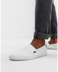 Zapatillas slip-on blancas de Lacoste