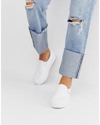 Zapatillas slip-on blancas de Vans