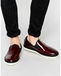 Zapatillas slip-on burdeos de Paul Smith