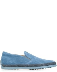 Zapatillas slip-on celestes