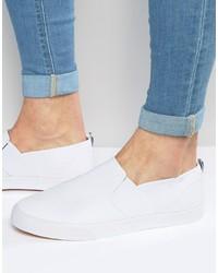 Zapatillas slip-on con print de flores blancas de Asos
