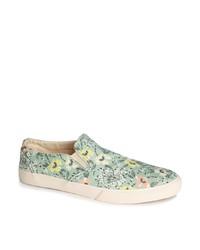 Zapatillas slip-on con print de flores grises de YMC