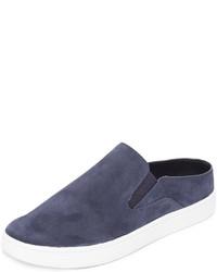 Zapatillas slip-on de ante azul marino de Vince