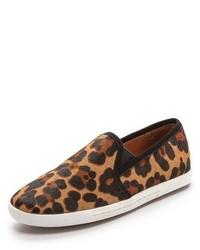 Zapatillas Slip-on de Ante de Leopardo Marrónes de Joie
